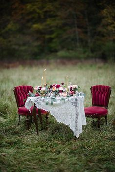 deep red bouquet - photo by Emily Millay Photography http://ruffledblog.com/luxe-winter-wonderland-wedding-inspiration