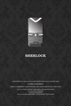 Sherlock (2010–) ~ Minimal TV Series Poster by Kate MacGuffin #amusementphile