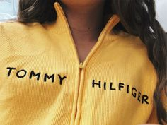 Tommy Hilfiger Preppy V-Neck Thin Cable Knit Sweater. Fall Outfits, Summer Outfits, Cute Outfits, Fashion Outfits, Yellow Outfits, Yellow Clothes, Classy Outfits, Trendy Outfits, Vogue