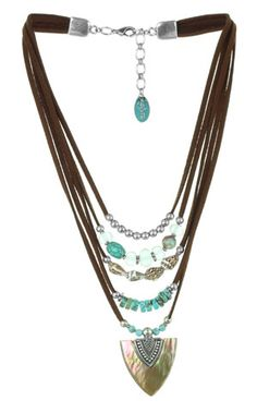 leather, turquoise, multi-strand