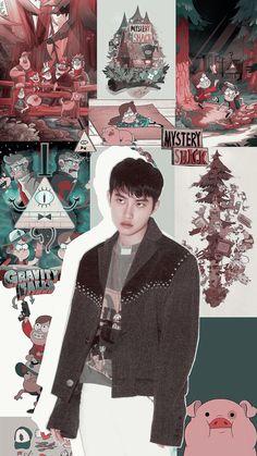 o and gravity falls. Soft Wallpaper, Wallpaper Pictures, Tumblr Wallpaper, D O Exo, Exo Do, Chanyeol, Kyungsoo, Exo Stickers, Kai