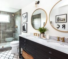 Rustic Black Vanity. Rustic Bathroom Vanity. Black Vanity. The rustic black vanity is from Restoration Hardware