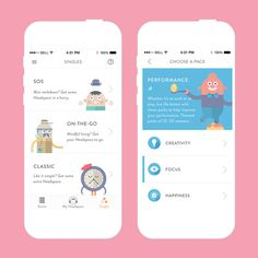 This app provides 10-minute meditation sessions to relieve unwanted stress.