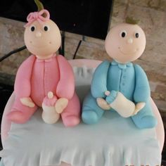 Gum paste baby toppers