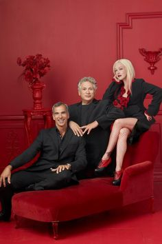 Jerry Mitchell, Harvey Fierstein, and Cyndi Lauper of KINKY BOOTS