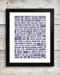 Aviation Lingo Typography Print Pilot Lingo by AddisonAndLake, $12.00