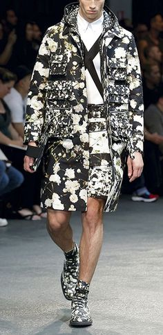 Givenchy Floral Coat SS 2015