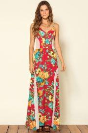 vestido longo bouquet floral