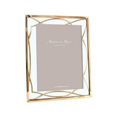 This Gold Colour Electroplated Frame by Addison Ross will stand portrait or landscape and can easily be hung on a wall in either orientation.