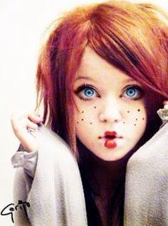 Halloween ideas... cute rag doll makeup!                                                                                                                                                                                 More