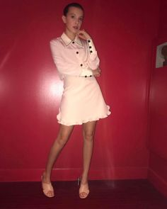 Pink to make the boys wink 😉 She Is Gorgeous, Beautiful Person, Beautiful People, Grace Vanderwaal, Millie Bobby Brown, Brown Fashion, Teen Fashion, Bobby Brown Stranger Things, Browns Fans