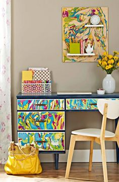 24 Easy DIY Furniture Makeovers | Midwest Living, cool for girls dresser