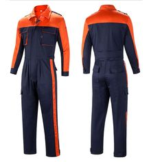 Men Women Denim Overalls Coveralls Workwear Jeans Jumpsuit Mechanic Uniform Sets