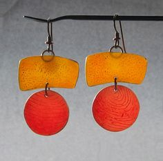 LOUISE FISCHER COZZI: Groucho Earrings...polymer clay...lovely