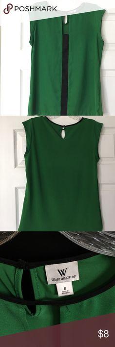 Worthington Cap Sleeve Blouse Worthington green and black cap sleeve blouse, size small. Worthington Tops Blouses