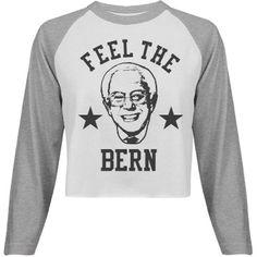 Feel The Bern Bernie Sanders 2016 Funny American Apparel Crop Top