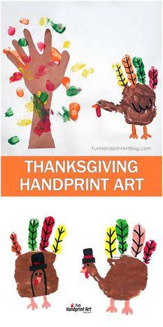 Pilgrim Turkeys - Thanksgiving Handprint Craft