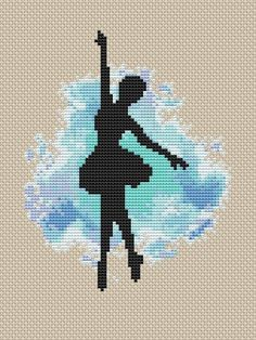 Ballet Cross Stitch Pattern Modern cross stitch Pattern includes: ◊ Color image of the finished design ◊ List of DMC colors ◊ Color symbol chart spread over several A4 sheets for printing ◊ Black and white symbol chart spread over several A4 sheets Details: ❖ 9 DMC colors ❖ 68 x