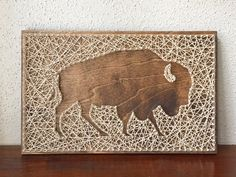 Custom Buffalo String Art by CactusCustomDesigns on Etsy https://www.etsy.com/listing/265311389/custom-buffalo-string-art