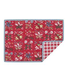 Look what I found on #zulily! Red Floral Quilted Place Mat - Set of Four #zulilyfinds