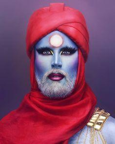 @hellvetika #dragqueen #beard