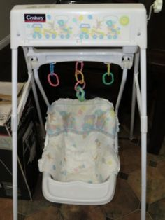Retro High Chairs Babies Patio Chair Covers Walmart Canada Rare Vintage Graco Swyngomatic Baby Wind Up Swing | ~vintage Baby~ Pinterest ...