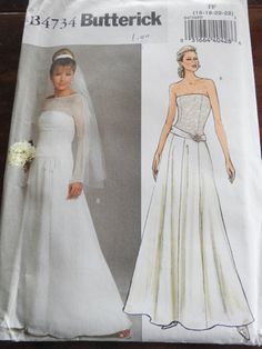 Butterick B4734 Women's Elegant Wedding by Avalonsewingpatterns