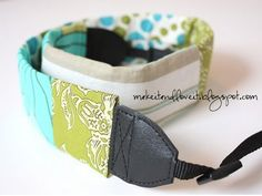 Scrappy Camera Strap: make a fun camera strap out of old scraps here.   www.makeit-loveit.com