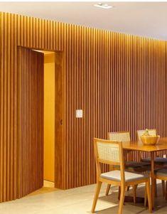 Wood Wall Design, Door Design, House Design, Lobby Interior, Interior Architecture, Interior Design, Hidden Doors In Walls, Home Decor Furniture, Furniture Design