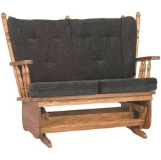 Amish Made Loveseat Glider:  Four Post Love Seat Glider will become a comfortable favorite in any room in your home.