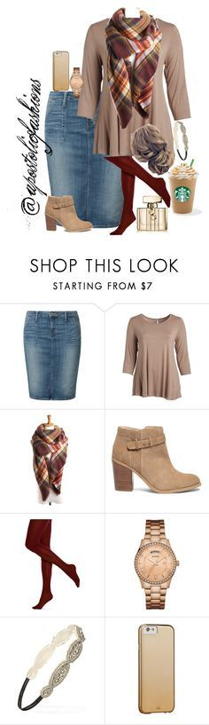 """""""Apostolic Fashions #1804"""" by apostolicfashions ❤ liked on Polyvore featuring Lee, Cool Melon, Sole Society, HUE, GUESS, Forever 21, Case-Mate, Gucci and plus size clothing"""