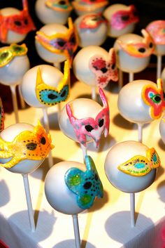 Masquerade Mask Cake Pops by PetiteDelightsbyMichele, via Flickr