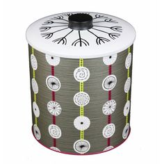 Sanderson Atomic Biscuit Barrel - Retro to Go 1950s Fashion, Cookie Jars, Fabric Design, Biscuits, Retro, Wallpaper, Glass, Projects, Pattern