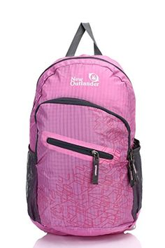 Outlander Packable Handy Lightweight Travel Hiking Backpack DaypackPinkL * Find out more about the great product at the image link. Note:It is Affiliate Link to Amazon.