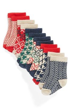 Nordstrom Baby Crew Socks (Babies) (6-Pack) available at #Nordstrom