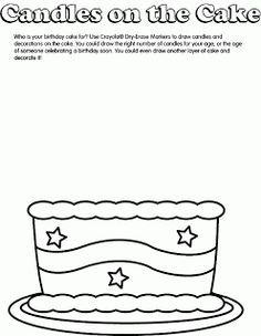 """Play With Me: Birthday Printables:  May be able to use as cake template for """"I am _____ candles old?"""