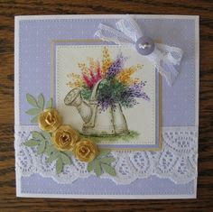 Watering Can card by Deloris Thiede
