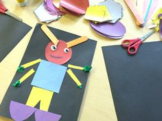 2D shape aliens for our space theme! Great activity after you read aliens love underpants, or any space book!