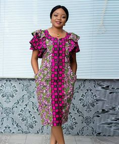 Short African Dresses, African Blouses, Latest African Fashion Dresses, African Print Dresses, African Print Fashion, Ankara Fashion, Africa Fashion, African Prints, African Fabric