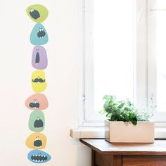 Monster balls Eco wall decal/ Eco-friendly fabric by MadeofSundays