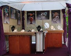 Barbara Umbel art show jewelry booth photo http://www.sanibelartfair.com/artists/barbara-umbel/