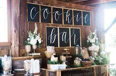 rustic cookie bar