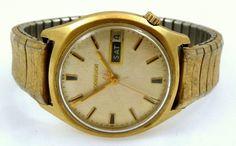 Vintage Bulova Accutron 14k Gold Filled 2182 Tuning Fork Watch