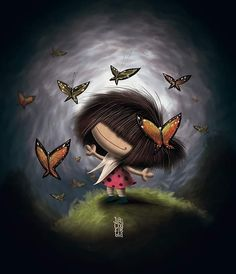 New Wallpaper Iphone, Dark Wallpaper, Cute Cartoon Pictures, Pictures To Draw, Cartoon Drawings, Art Drawings, Santoro London, Abstract Pictures, Buddha Art