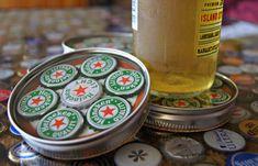 iowa+beer+bottle+cap+table+design   Bottle Cap Coaster / Beer / Heineken / Green by 57RIK3R on Etsy
