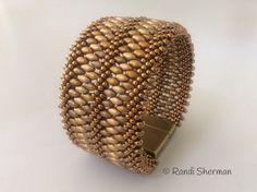 Triple braid Kumihimo cuff bracelet