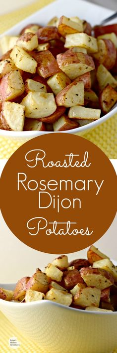 Roasted Rosemary Dijon Potatoes   by Renee's Kitchen Adventures - Easy recipe for a healthy potato side dish with pizzazz!