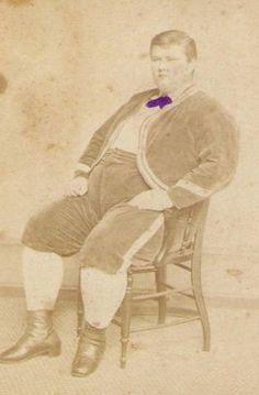 Tinted Civil War Era Circus Fat Man W.M. Bates Photo CDV P T Barnum Sideshow   eBay W. L. Germon, photog, Philadelphia.