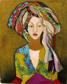 Faiza Maghni, painter, Algeria.
