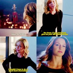 """If you would just give me your cell phone number, I wouldn't have to do so much back-channeling"" - Cat and Kara #Supergirl"